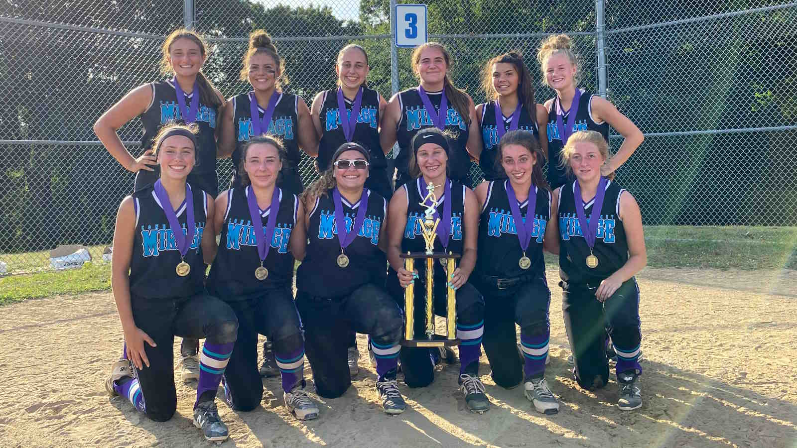 CT Mirage Travel Softball Annie Olender Tournament Champions July 2020